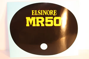 1975 Honda MR50 Elsinore sidepanel oval decal sticker - black