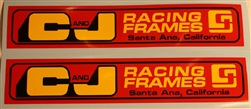 C and J Frame swingarm decal sticker set