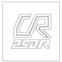 1980 Honda CR250R Stencil set