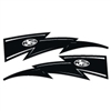 JT Racing Lightning Bolt - 10inch Black White