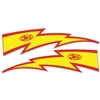 JT Racing Lightning Bolt - 10inch Yellow Red
