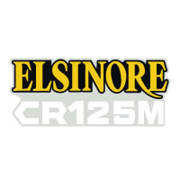 1976 1977 Honda CR125M Elsinore side panel decals