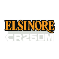 1976 Honda CR250M Elsinore side panel decal set