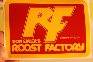 Roost Factory - Red/Yellow decal sticker