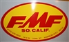 FMF XL Oval Yellow Red sticker decal
