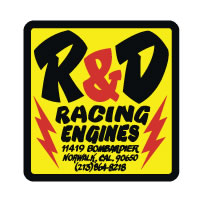 R&D Racing decal sticker