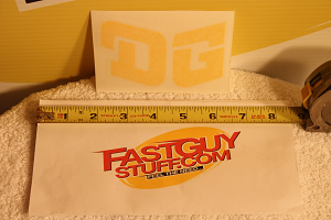 DG Helmet / Fender Decal - Die Cut Yellow