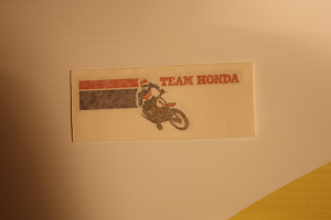 1970's Vintage Team Honda Logo decal sticker