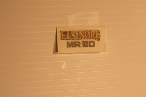 1975 Honda MR50 Custom Elsinore sidepanel decal sticker