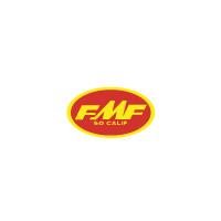 FMF Small Decal Red Yellow