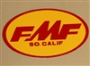 FMF Small Decal Yellow Red