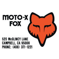 Moto-X Fox Swingarm Small decal sticker set