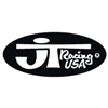 JT Racing oval decal sticker black / white