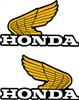 1982 Honda XL250R tank wings decals