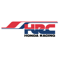 HRC Stripe decal sticker with Honda Racing on white vinyl.