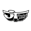 JT Racing Black White Large Zoom Helmet Decal