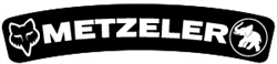 Metzler Fox arched fender decal sticker set