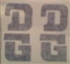 DG BMX Stacked Decal Set - Dark blue die cuts