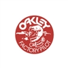 Oakley Factory Pilot Johnny O Red White decal sticker