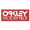 Oakley Factory Pilot red decal sticker