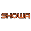 Showa Fork neon orange die cut decal sticker set black outline