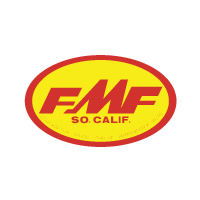 FMF Large Oval Yellow Red