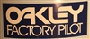 Oakley Factory Pilot blue decal sticker