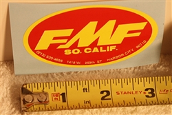 FMF Oval Medium Red / Yellow decal sticker