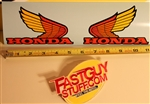 1986 Honda XL250R fuel tank wing decal stickers