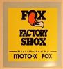 Fox Factory Shox vintage vertical yellow decal
