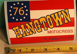 Hangtown Flag decal sticker