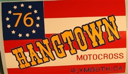 1976 Hangtown Flag decal sticker - fender size