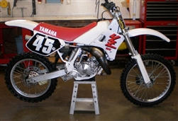 Yamaha YZ Sides of Seat Stencil decal sticker set