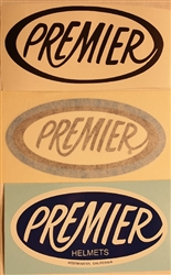 Premier Helmet decal sticker kit