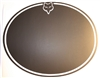 "Fox 9 7/8"" Black Ovals - set of 3"