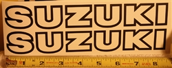 1978 Suzuki Tank Decal Set SMALL