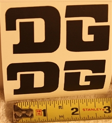 DG black swingarm sticker decal die cut set for IT175 Yamaha
