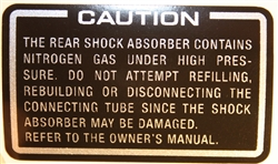 Showa shock warning decal sticker