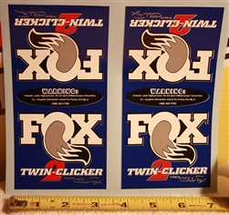 Fox Factory Twin Clicker 2 decal sticker set