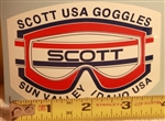 Scott Goggles Sun Valley decal sticker