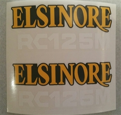 Honda RC125M Works Elsinore side panel decals