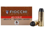 Fiocchi 45LC Cowboy Action Lead Round Nose Flat Point 250gr -50rd Box