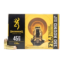 Browning .45 ACP 230gr FMJ - 150rd Value Pack