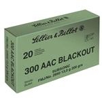 Sellier & Bellot 300 BLK FMJ 200gr Subsonic - 20 Rounds