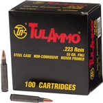 TULA 223Rem 55gr FMJ Steel Case - 100rd Box