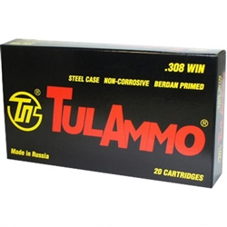 TULA 308 165gr Soft Point 20rds