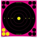 "Birchwood Casey Shoot-N-C 8"" Pink Bull's-eye Target 6 Pack"