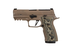 "Sig Sauer P320 AXG Scorpion 9MM Custom Works 3.9"" 17+1 - FDE"