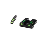 Hi-Viz Glock Litewave H3 Tritium/Litepipe Sight Set - 45 ACP / 10MM
