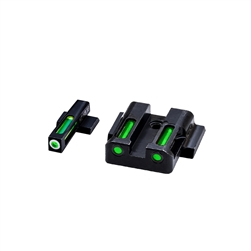 Hi-Viz Smith & Wesson M&P Shield Litewave H3 Tritium/Litepipe Sight Set